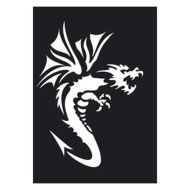 Selvklæbende Tattoo stencil. Dragon2