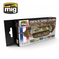 AMIG7110 WW I & WW II French Camouflage Colors sæt 6 x 17 ml.