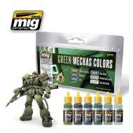 AMIG7149 Green Mecha Colors sæt 6 x 17 ml.