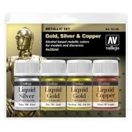 70.199 Liquid Metallic sæt 4 x 35ml