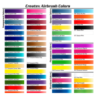 Createx Airbrush Colors color chart