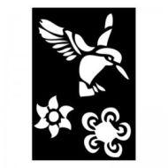Selvklæbende Tattoo stencil. Hummingbird