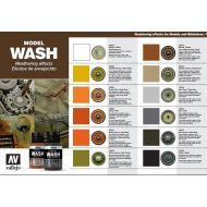 Vallejo model wash color chart