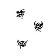 Tattoo stencil sæt 2