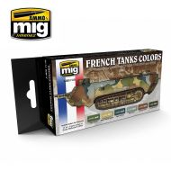 AMIG7110 WW I & WW II French Camouflage Colors sæt 6 x 17 ml.