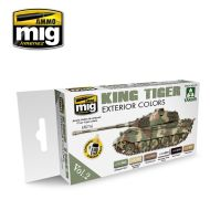 AMIG7166 King Tiger Exterior Color (Special Takom Edition) sæt 6 x 17 ml.