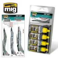 AMIG7204 MiG & SU Colors Grey & Green Fighters sæt 4 x 17 ml.
