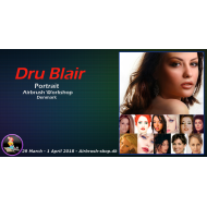 Dru Blair airbrush kursus 29/3 - 01/04 2018 RESERVATION