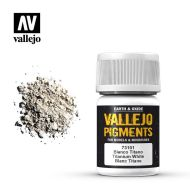 73.101 Vallejo Pigment Titanium White 35ml.
