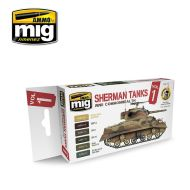 AMIG7169 Sherman Tanks Vol1. (WWII Commonwelth) sæt 6 x 17 ml.