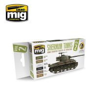 AMIG7170 Sherman Tanks Vol.2 (WWII European Theater of Operations) 6 x 17 ml.