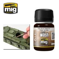 AMIG1005 Dark Brown Wash For Green 35ml.