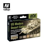 71.209 US Modern Desert Colors sæt 6 x 17ml