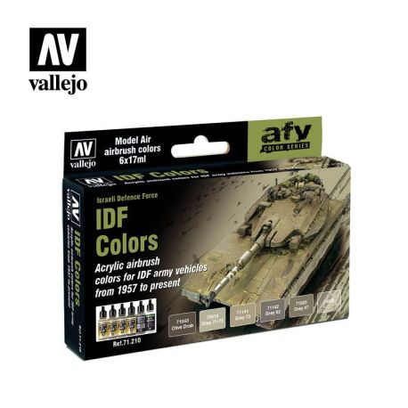 71.210 IDF Colors sæt 6 x 17ml