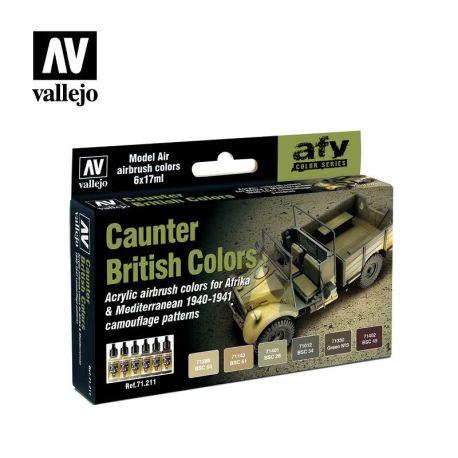 71.211 British Caunter Colors sæt 6 x 17ml
