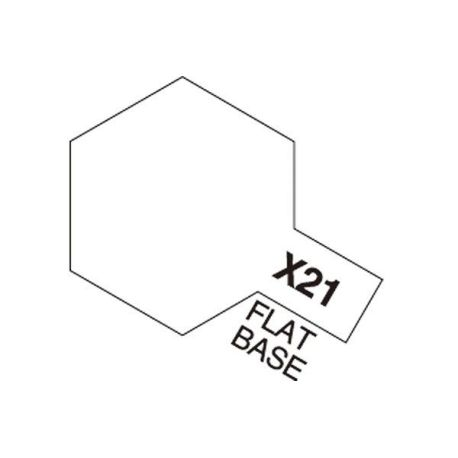 Tamiya Acrylic Mini X-21 Flat Base 10ml.
