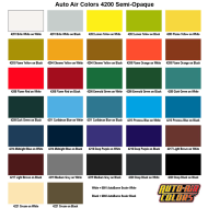 4200 Semi Opaque Color Chart