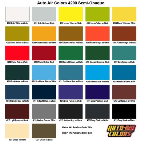 4200 Semi Opaque Color Chart
