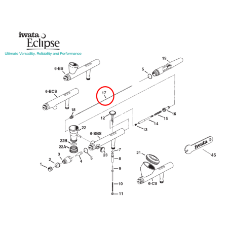 Iwata Needle 0,5mm I6171