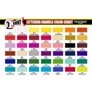 1 Shot color chart